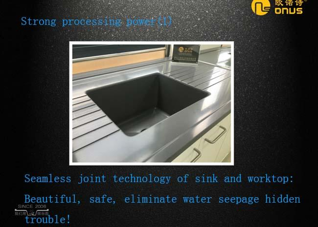 Lab corrosion  resistance epoxy resin fume hood countertop