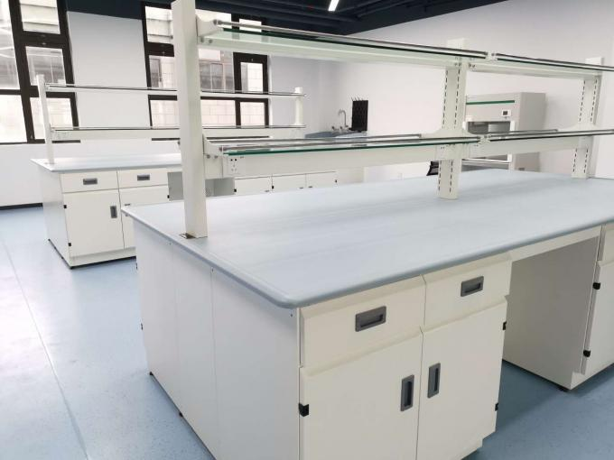 Epoxy Resin Lab Furniture ountertops for Center Bench / Blue Color