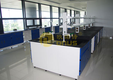 Durability laboratory worktops with black color , epoxy lab countertops