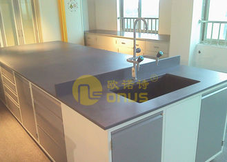 Large Size Laboratory Island Bench , Chemical Resistant Table Tops 25mm Thickness