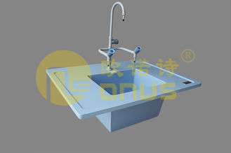 Epoxy resin chemical resistance ice blue drop in sinks for laboratory benches