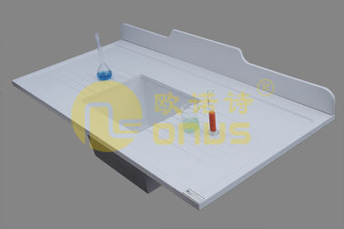 White epoxy undermount sink epoxy resin chemical resistance in hospital