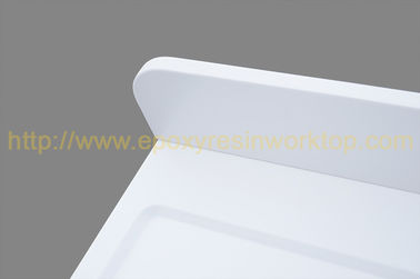 Repairability Epoxy Resin Worktop / White Quartz Countertops Mositure Resistance