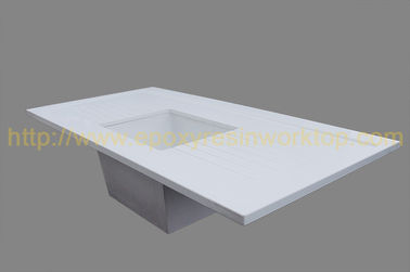 China Safety School Laboratory Bench Top 750mm Width Monolithic Epoxy Resin supplier