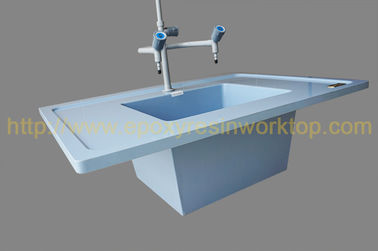 China Ice blue epoxy undermount sink supplier