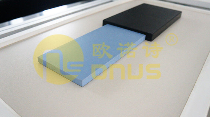 Ice blue epoxy resin countertop slab color and quality sample for laboratory furniture