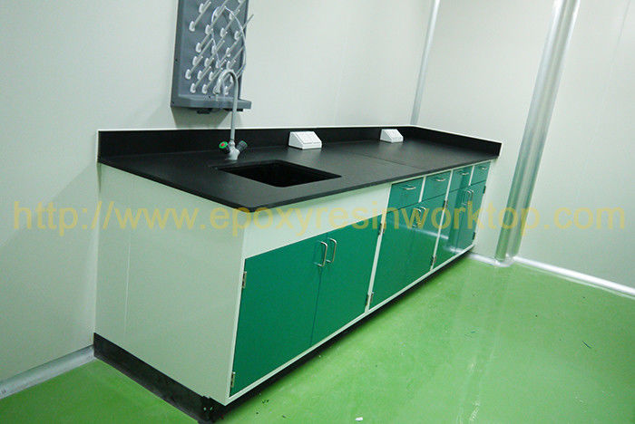 Science lab countertops / laboratory bench top with monolithic for university