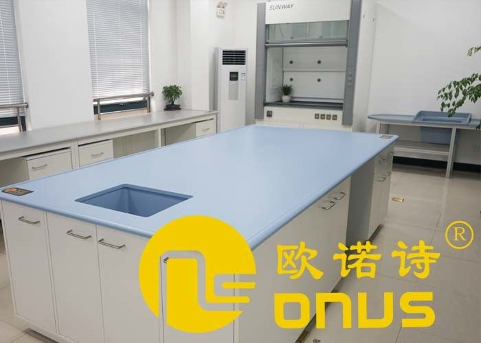 Laboratory Epoxy Resin Countertop 19mm Thickness Corrosion Resistance