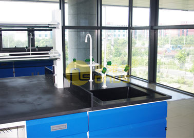 China Monolithic chemical resistant table tops / laboratory work benches factory