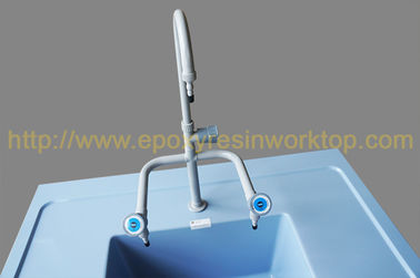 Ice blue epoxy undermount sink customized chemical and heat resistance, inflammable