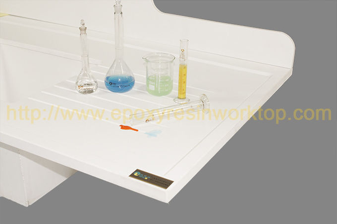 White Epoxy Resin Laboratory Bench Top Chemical Resistance For Testing Center