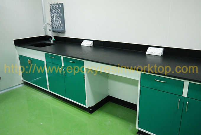Safety School Laboratory Bench Top 750mm Width Monolithic Epoxy Resin