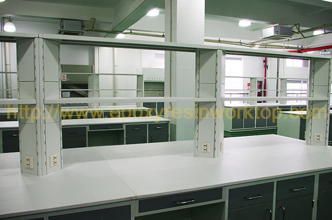 Molded Marine Edge Chemistry Lab Countertops 1270 * 764mm For Fume Hood